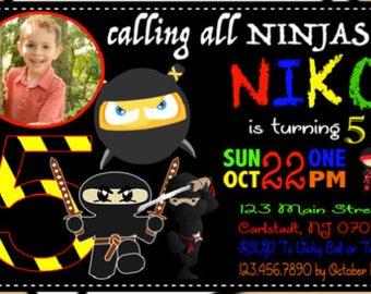 Printable Ninja Birthday Invitation, Ninja Boy Birthday Boy, Karate Birthday Invitation, Ninja Party Invitation, Ninjas,