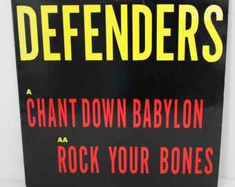 "Defenders Chant Down Babylon / Rock Your Bones 12"" 45rpm Record, 1989 45 rpm Reggae Music"