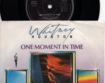 "WHITNEY HOUSTON One Moment In Time 1988 GERMAN Issue 7"" Vinyl 45 rpm Record soul Dance pop 80s 111613"