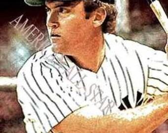 Great Greg Nettles New York Yankees Art LE of 50 Rare