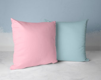 Throw Pillow-Gender Reveal Party-Baby Shower Pink-Blue-For Boy or Girl