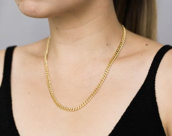 Thick Gold Chain Necklace / Gold Chain Statement Necklace / Gold Layering Necklace / Gold Statement Necklace / Gold Necklace