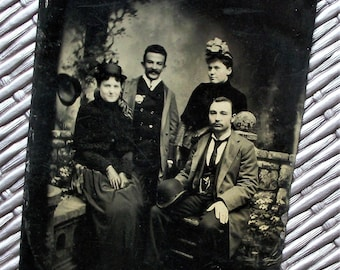 3.5 x 5 Tintype - Garden Party Group