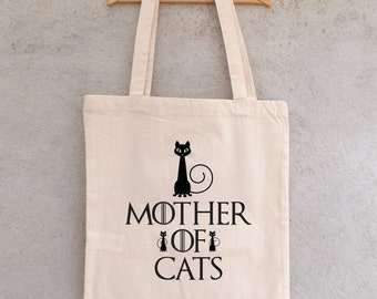 """Tote Bag """"Mother of Cats"""" - Game of Thrones - Mother of dragons - Khaleesi - Jon Snow"""