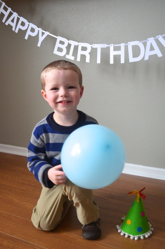 Happy Birthday Banner with customizable characters, you choose the colors!