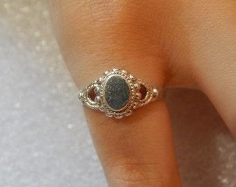 Vintage design ladies ring 925 silver