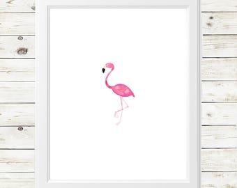 summer watercolor print - summer flamingo print - watercolor flamingo print - watercolor flamingo - watercolor flamingo art print