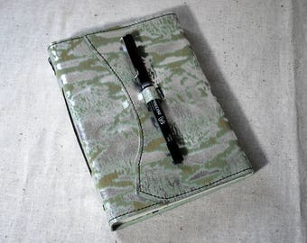 Silver Mint Leather Travel Journal with Recycled Paper-Medium