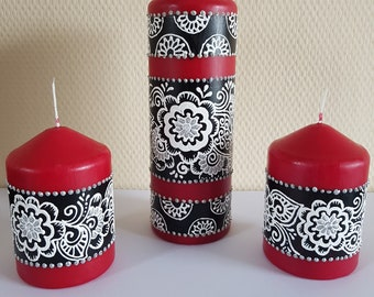 Red Henna Candle