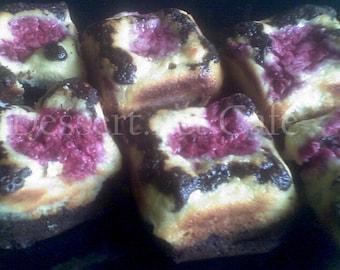 Raspberry Cream Brownies