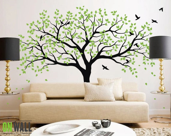 sc 1 st  Etsy & Large Tree Wall Decals Trees Decal Nursery Tree Wall Decals