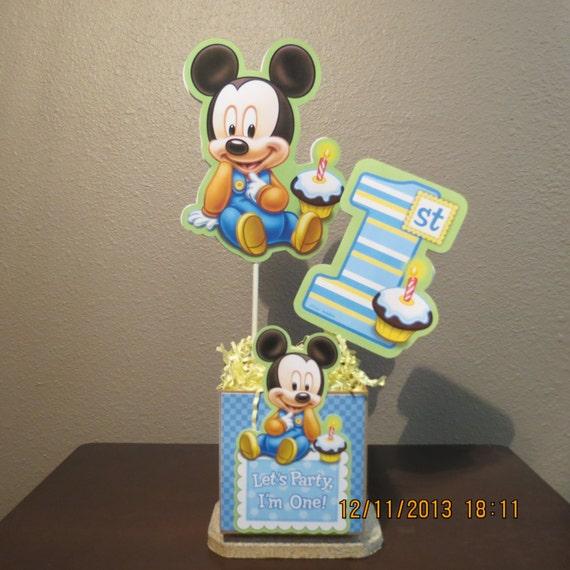 Baby Mickey's 1st Birthday Centerpiece-DIY Kit