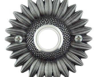 Sunflower Doorbell button cover with lighted button. Free shipping on your second item!