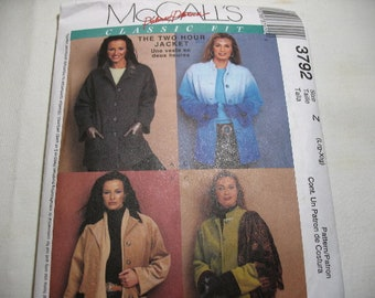 Vintage McCall's Jacket Pattern 3792