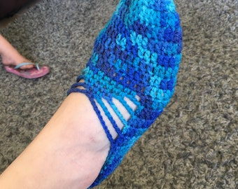 Crocheted Ballet Slippers