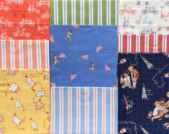 Children at Play Sarah Jane 9 FQ set Michael Miller fabric Please Read