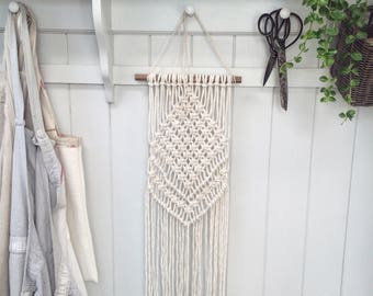 Made to order: Long woven macrame wall hanging, bohemian style