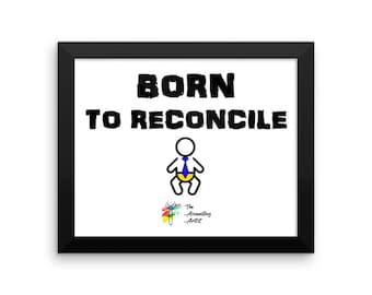 Accounting Poster, Born to Reconcile, Accountant Gift, Accountant Office Decor, Accounting Art, Accounting Humor, Funny Bookkeeper Gift