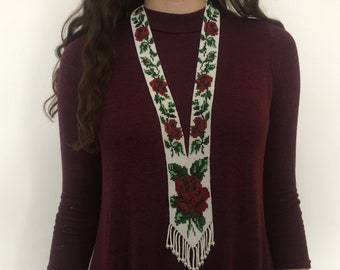 Ethnic necklace jewelry beaded gift for her  Traditional Ukrainian Ethnic necklace it's beautiful and stylish