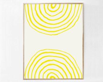 Yellow Wall Art, Modern Printable Art, Yellow Wall Decor, Yellow Poster Download Print, Yellow Artwork, Yellow Abstract Art DIGITAL PRINT