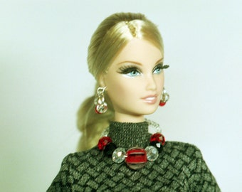 Handmade Barbie Necklace and Earring set