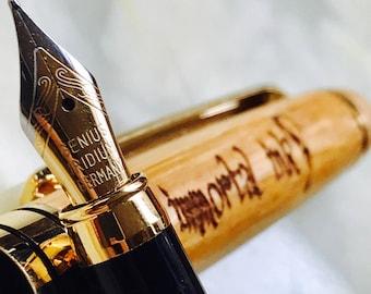 Bamboo Fountain Pen, Immortal Ink