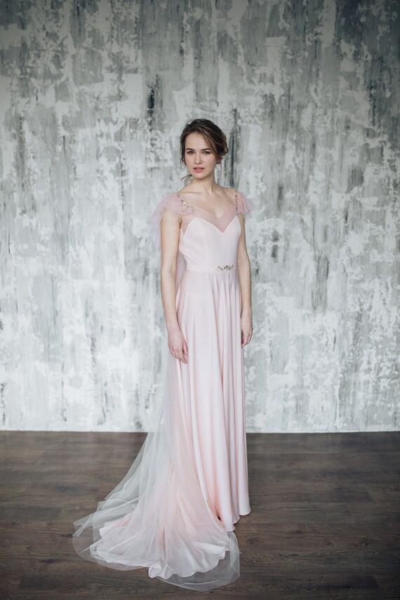 Erröten rosa Brautkleid Mirtselia Rosa Brautkleid Rosa
