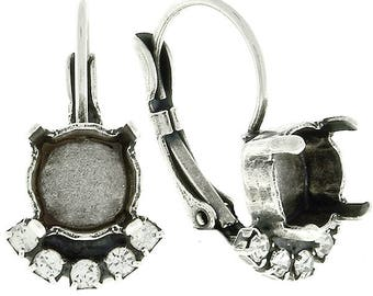 5 pairs of 39ss with 14pp SW rhinestone Leverback Earring bases