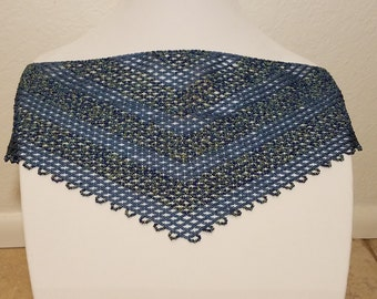 Chevron Beaded Netted Scarf Pattern Wide Lines