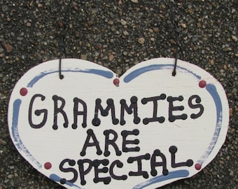 Wooden Grandmother Small Heart Grammies Are Special