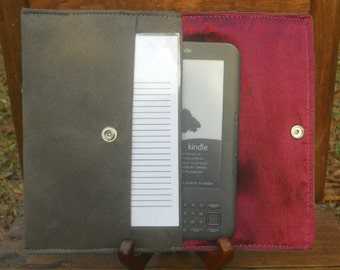 iPad Mini, Kindle, Nook, Kobo, Sony Reader, Samsung Galaxy, Small eReader Padded Case (READY TO SHIP) - Gray Suede
