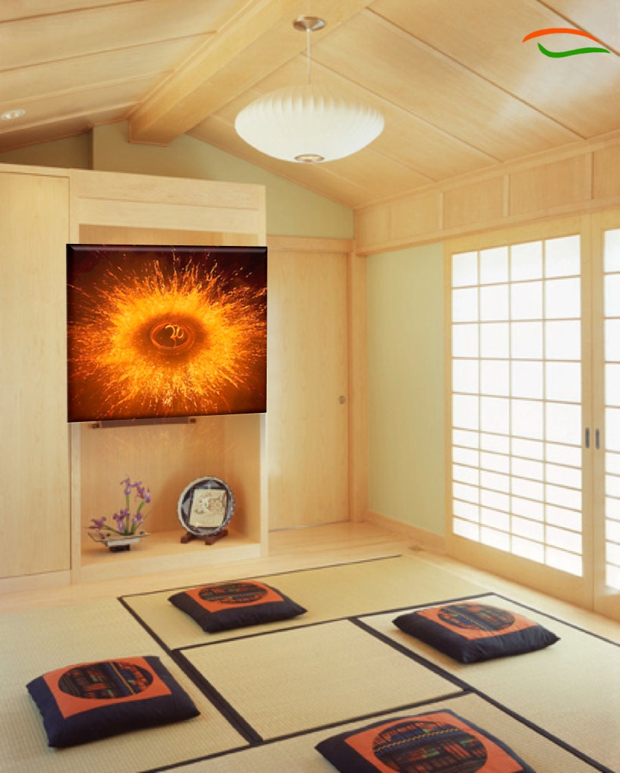 Om Painting AUM Yoga Poster Yoga Wall Decor. Cosmic Fission