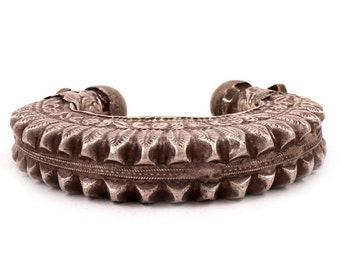 Vintage Handmade Silver Bangle, Gypsy Bracelet, Tribal Bracelet, Adjustable cuff Bangle, Afghani Bangles, Boho Bracelet, Gypsy Bracelets