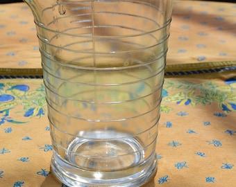 vintage glass beaker 16 oz measuring glass Made in USA