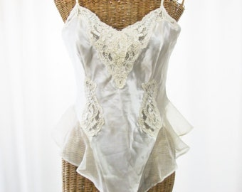 Victoria Secret's 98' Bridal Ivory White One Piece Teddy Unworn SM