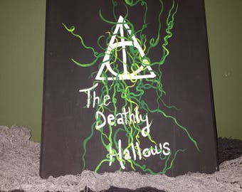 Harry Potter inspired painting on wood board