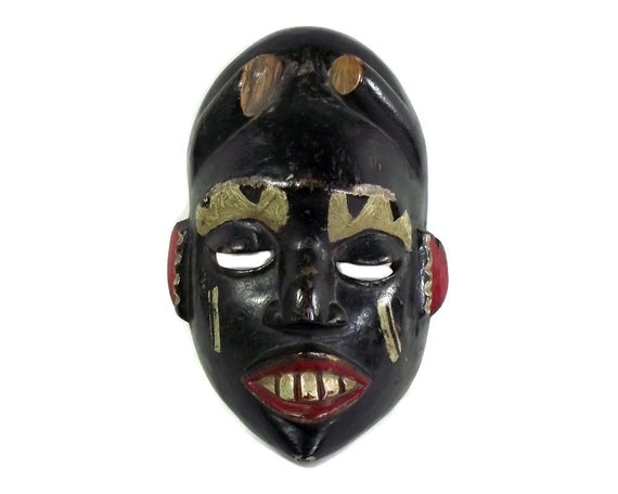 Old Hand Carved African Face Mask