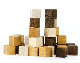 Baby Toys - Wooden Blocks - Wooden Baby Toys - Montessori Toys - Baby Shower Advice