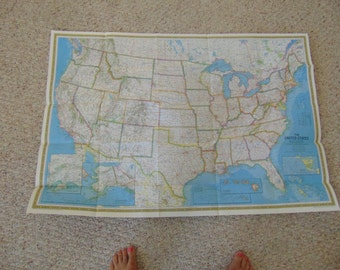 The first Photo-mosaic Portrait if the USA, contiguous 48 states.  Produced by National Geographic Society