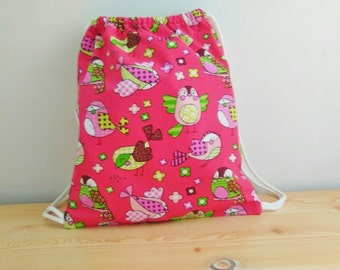 Baby backpack,children backpack,kids backpack,children bag, baby bag, kawaii bag,school bag,lunch bag,clothes baby bag,birds bag,birds print