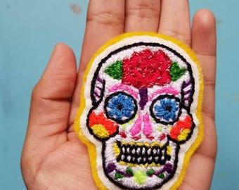 Sugar Skull Pin/Patch