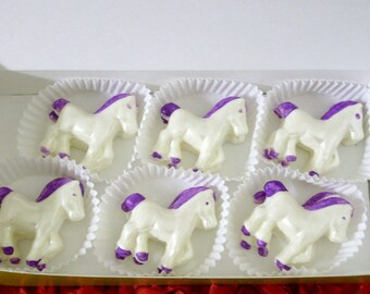 48 Bite sized Chocolate Horse - Cupcake Toppers