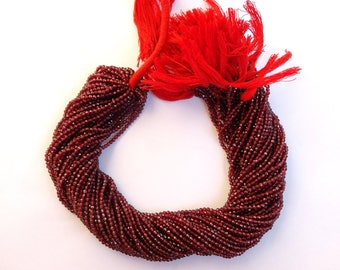 5 Strands Of Mozambique Garnet Micro faceted Rondelles , Mozambique  Garnet  Micro faceted Rondelle Beads  AAA Quality