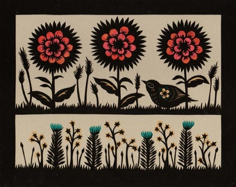 Garden Level - Cut Paper Art Print