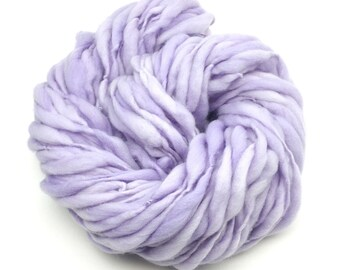 Hand spun yarn, super bulky, in thick and thin merino wool - 55 yards, 3 ounces/86 grams