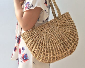 PRE-ORDER Bridesmaids Totes / Bridesmaids Gift / Straw Bag / Basket bag / Woven Bag / Hand bags / Straw tote / seagrass bag / wicker bag