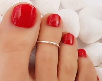 Toe ring, Silver Toe Ring, Rose Gold Toe Ring, Midi Toe Ring, Adjustable Toe ring, Toe Rings, Band Toe Ring, Dainty Toe Ring, Midi Ring