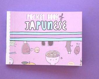 Pocket book of JaPUNese -- cute kawaii Japanese gift book / zine !!