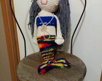 Pearl Girl. Hand crocheted mermaid doll