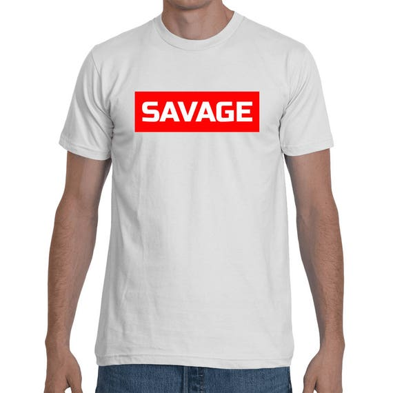 Savage 21 Savage Rockstar Red Rectangle Style inspired Hip Hop Tee World Star Trap Shirt Short-Sleeve trending rap Unisex T-Shirt